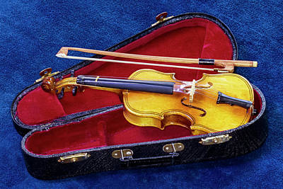 Photograph - Violin With Bow And Case by Bob Slitzan