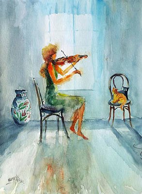 Painting - Violin Work... by Faruk Koksal
