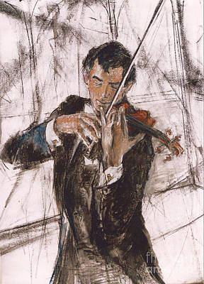 Violinist Art Print by Debora Cardaci