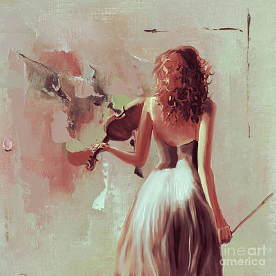 Gallery Painting - Violinist Lady 67th by Gull G