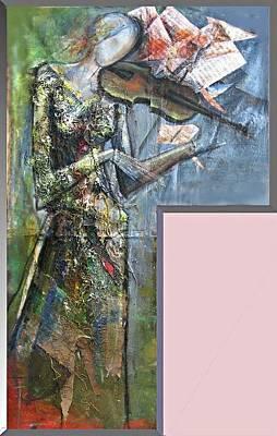 Violinist Woman Art Print by Giorgi Kobiashvili