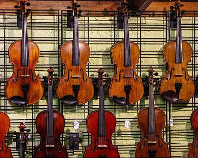 Photograph - Violins In A Shop by Jim Mathis