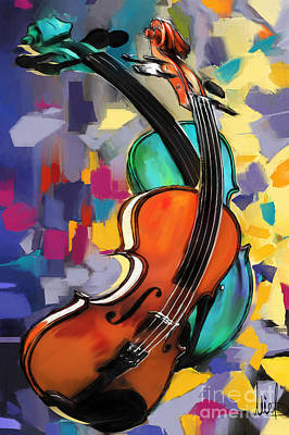Violins Original by Melanie D