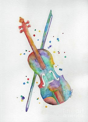 Painting - Violin's Song by Tamyra Crossley