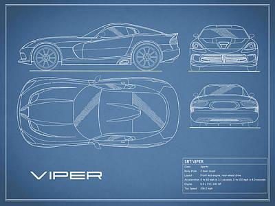 Viper Blueprint Art Print