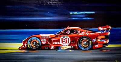 Viper Painting - Viper Gts At Speed by Danny Dunn
