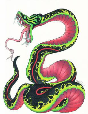 Viper Mixed Media - Viper by Katlyn Daniels