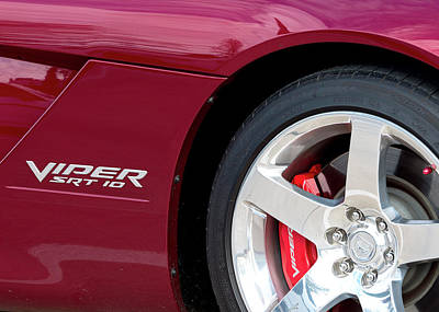 Photograph - Viper Spt 10 Maroon 81516 by Rospotte Photography