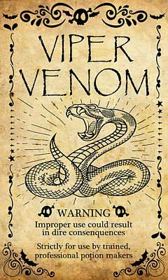 Viper Mixed Media - Viper Venom by Long Shot