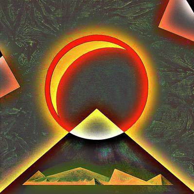 Microscopy Mixed Media - Viral Attack - Conceptual Art Abstract by Rayanda Arts