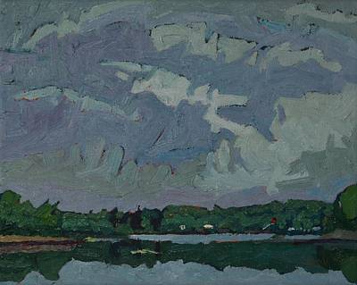 Painting - Virga Sometimes Becomes Rain by Phil Chadwick