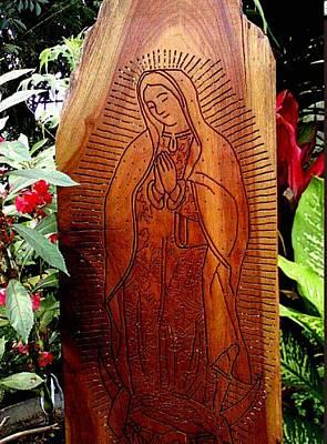 Virgen De Guadalupe Art Print by Calixto Gonzalez