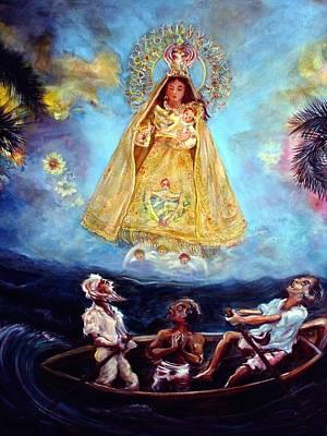 Virgen De La Caridad Del Cobre Art Print by Iris Leyva Acosta