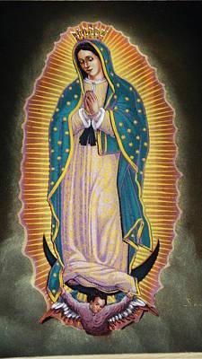 Virgen Print by Kasper Castillo