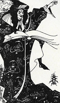 Virgilius The Sorcerer Art Print by Aubrey Beardsley