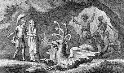 Virgils Aeneid, Scene With Cumaean Sibyl Art Print by Wellcome Images