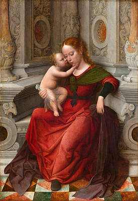 Painting - Virgin And Child by Attributed to Adriaen Isenbrandt