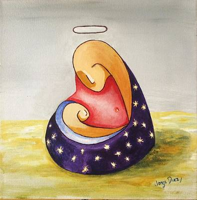 Virgin And Child Original by Jorge Diez