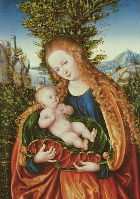 Jesus Art Painting - Virgin And Child by Lucas the elder Cranach