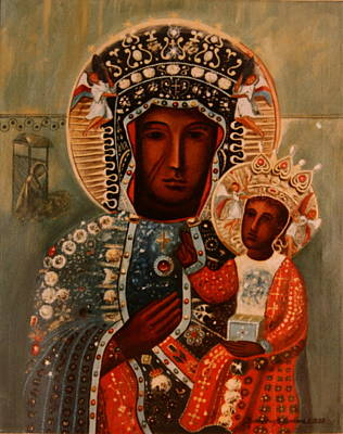 Painting - Virgin And Child by Rosencruz  Sumera