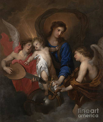 Virgin Mary Painting - Virgin And Child With Music Making Angels by Anthony Van Dyck