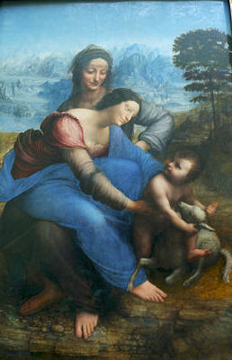 Virgin And Child With St Anne Art Print