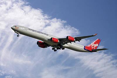 Photograph - Virgin Atlantic Airbus A340-642 by Nichola Denny
