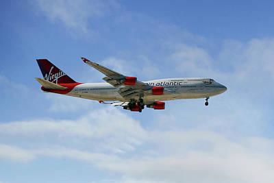 Virgin Atlantic Boeing 747-443 Art Print