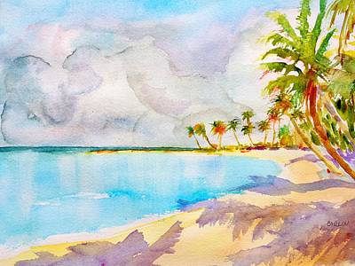 Sandy Beaches Painting - Virgin Clouds by Carlin Blahnik CarlinArtWatercolor