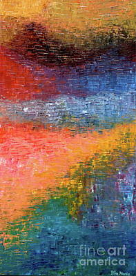 Painting - Virgin Color Transcendence #1 Oil Landscape Abstract Impressionism Textured Home Office Wall Decor by Tim Hovde