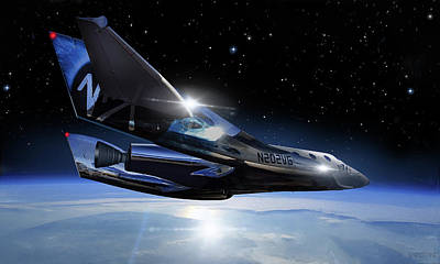 Digital Art - Virgin Galactic - Unity - Starboard View by James Vaughan