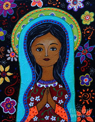 Virgen Mary Painting - Virgin Guadalupe 10 by Pristine Cartera Turkus