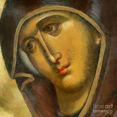 Byzantine Painting - Virgin Mary by Dragica Micki Fortuna
