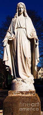 Photograph - Blessed Virgin Mary Statue by Lita Kelley