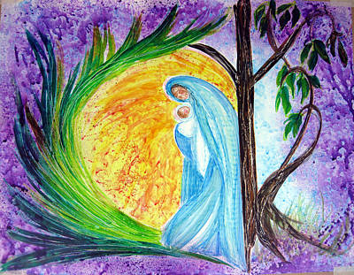 Painting - Virgin Mary Protectress by Sarah Hornsby