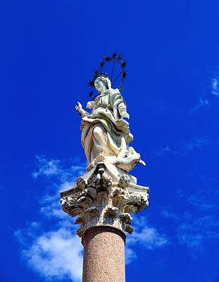 Photograph - Virgin Mary Statue by Valentino Visentini
