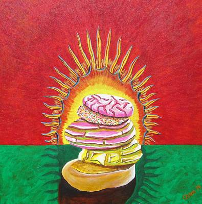 Painting - Virgin Mexican Sweet Bread by Manny Chapa