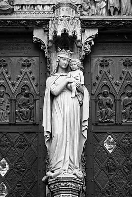 Photograph - Virgin Mother B W  by Teresa Mucha