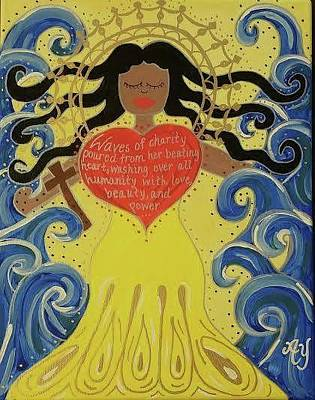 Painting - Virgin Of Caridad by Angela Yarber