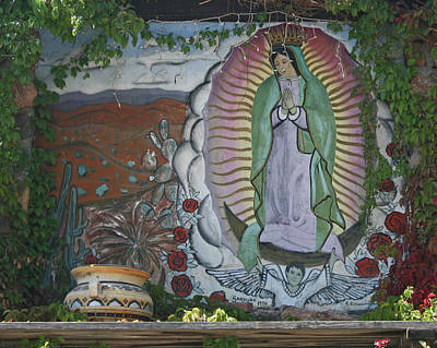 Photograph - Virgin Of Guadalupe In Northern New Mexico by Elizabeth Rose