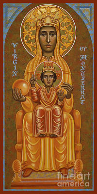 Painting - Virgin Of Montserrat - Black Madonna - Jcvom by Joan Cole