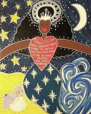 Painting - Virgin Of Regla by Angela Yarber