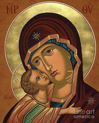 Painting - Virgin Of Vladimir - Jcvov by Joan Cole