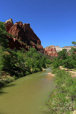 Photograph - Virgin River At Zion Park by Christiane Schulze Art And Photography