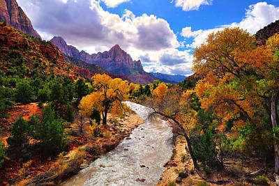 Photograph - Virgin River Autumn by Greg Norrell