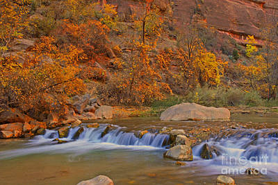 Virgin River In Autumn Art Print by Dennis Hammer