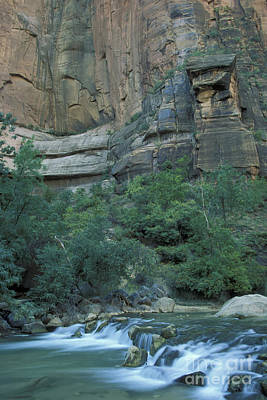 Virgin River In Zion 1 Art Print by Stan and Anne Foster