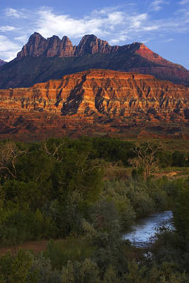 Virgin River Near Zion National Park Art Print by Utah Images