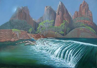 Confluence Of Birch Creek And North Fork Virgin River Original by Philipp Merillat