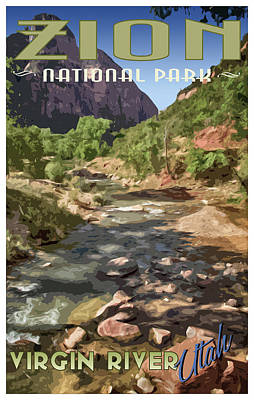 Photograph - Virgin River Poster by Debby Richards